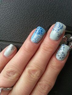 Winter wonderland konad nail art 2014