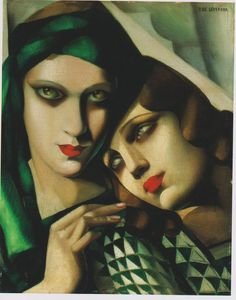 The Green Turban, Tamara de Lempicka. Oil on wood panel, 41.0 x 33.0 cm.1929. Private collection, USA