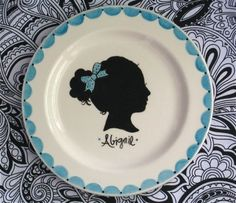 The Silhouette Portrait Collection Small Plate by AedrielOriginals