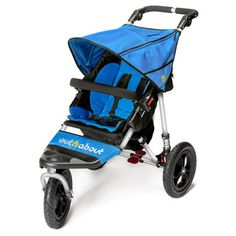 Out'n'About Nipper 360 V4 Single Stroller (with Raincover) - Lagoon Blue