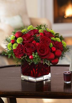 Teleflora's Merry & Bright - beautifully rich and vibrant Christmas flowers!