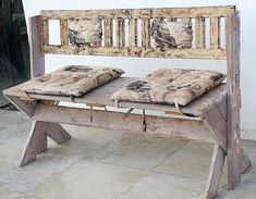 pallets rustic outdoor bench