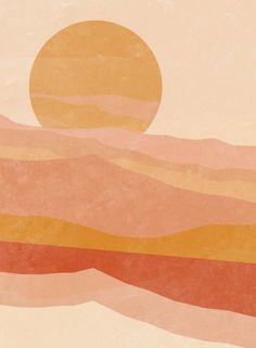 Small Canvas Art, Diy Canvas Art, Desert Art, Illustration Art, Illustrations, Cute Patterns Wallpaper, Minimalist Art, Oeuvre D'art, Painting Inspiration
