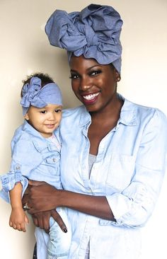 "Nothing better than ""twinning"" with your little Royal in our gorgeous chambray denim mommie and me set!!! This definitely gets lots of ""oohhss and awwws"""
