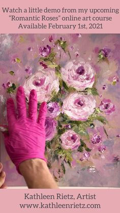 ONLINE ART COURSE COMING IN FEBRUARY. I teach artists my top techniques for creating dreamy, etereal acrylic rose paintings just like mine! #paintedroses #onlineartschool #onlineartcourses #learntopaint #rosedrawing #roses #diyartprojects #onlineartcourse #artist #paintingtechniques #pinkroses #valentinesday #valentine Acrylic Painting Inspiration, Acrylic Painting Flowers, Acrylic Painting Techniques, Abstract Flowers, Art Techniques, Rose Paintings, Romantic Roses, Rose Art, Arte Floral