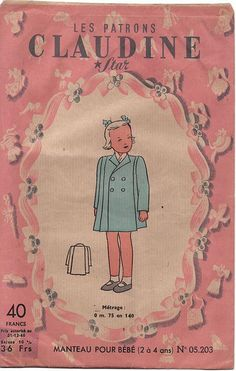 1940s Girl's Coat pattern by Raggedroses, via Flickr