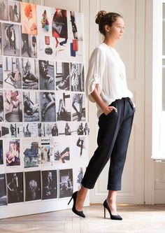 Fashionista Fly: Classy Attire Outfit Outfits for Women Work Attire Office Fashion, Work Fashion, Fashion Looks, Classic Fashion, Looks Style, Style Me, Street Mode, Cooler Look, Business Outfit
