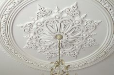 Sowerby Ceiling Centre by Ryedale Plasterers House Ceiling Design, Ceiling Design Living Room, Bedroom False Ceiling Design, Ceiling Decor, Window Design, Wall Design, Wall Molding, Moulding, Classic Ceiling
