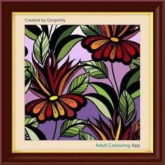 #adultcoloring #adultcoloringbook #adultcoloringbookapp #floralart #flowerart #flower
