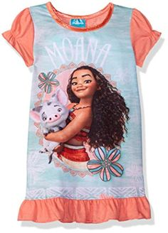 76050085a7 Amazon.com  Disney Girls  Moana Nightgown  Clothing