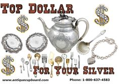 Antique Cupboard is THE place to find sterling silver flatware, and silverware. Search our online database for just the right silver items.