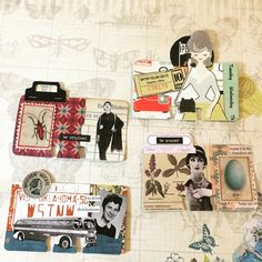 Look at these awesome Rollie's from my wonderful friend they are amazing! Art Journal Pages, Journal Cards, Art Pages, Art Journals, Scrapbook Paper Crafts, Scrapbooking, Glue Book, Rolodex, Atc Cards