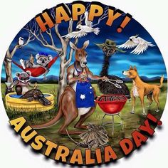 """""""Happy Australia Day to our Aussie mates home & abroad. Make sure wherever you are to give thanks to our brave firefighters, emergency services, volunteers who made the ultimate sacrifice over the past few months. Happy Australia Day, Australia Funny, Western Australia, Australia Cake, Australia Beach, South Australia, Holden Australia, Victoria Australia, Mom In Heaven Quotes"""