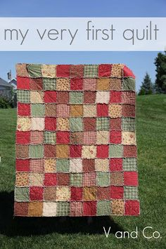 V and Co rag quilt
