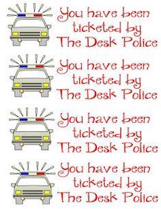 Third Grade Love: desk police