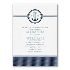Nautical Romance - Invitation Set a nautical tone for your wedding, and romance will set sail! Sending this nautical wedding invitation with an anchor, ropes and stripes is the way to do it. Nautical Wedding Theme, Personalised Wedding Invitations, Wedding Invitation Suite, Invitation Set, Wedding Stationery, Invites, Home Wedding, Wedding Decor, Wedding Ideas