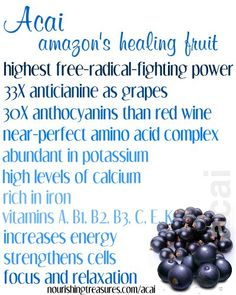 Acai properties. Superfoods. Best foods. About Nutrition. How to lose weight.