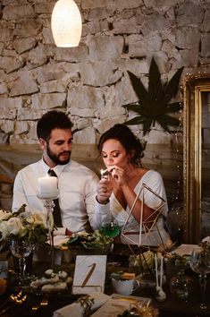 You Won't Be Able to Stop Staring at This Couple's Stunning Cannabis-Themed Wedding Perfect Wedding, Fall Wedding, Our Wedding, Dream Wedding, Christmas Wedding, Wedding Gifts, Wedding Cakes, Wedding Themes, Wedding Photos