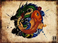 dragon and koi again