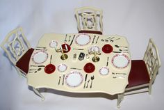 Sindy Doll Dining Table--I had this in my Barbie house my brother built me