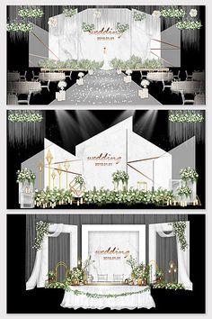 Modern minimalist white marble texture wedding background effect illustration Wedding Backdrop Design, Wedding Stage Design, Wedding Reception Backdrop, Wedding Stage Decorations, Backdrop Decorations, Wedding Designs, Minimalist Wedding, Modern Minimalist, White Marble Texture