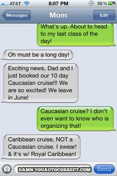 ... funny text messages. what kind of cruise
