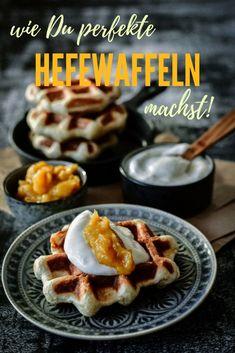 Mein perfektes Hefewaffel Rezept zum Frühstück - Auch für Morgenmuffel geeignet, denn der Teig läßt sich auch gern schon am Vorabend zubereiten. Das spart morgens Zeit. Unbedingt ausprobieren!