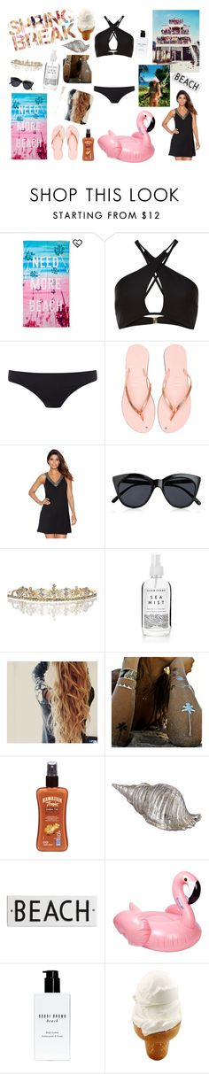 """""""Spring Break!"""" by izzapinkvs ❤ liked on Polyvore featuring Aéropostale, River Island, Paul Smith, Havaianas, M&Co, Le Specs, Flash Tattoos, Hawaiian Tropic, Rosanna and Sunnylife"""