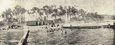 Public swimming baths at Wangi, Lake Macquarie.  This image was scanned from a photograph in the Newcastle and Hunter District Historical Society archives which are held by Cultural Collections at the University of Newcastle, Australia.  If you have any information about this photograph, please contact us.  Please contact us if you are the subject of the image, or know the subject of the image, and have cultural or other reservations about the image being displayed on this website and would… Newcastle Town, Tourist Info, Old Maps, Central Coast, Historical Society, Old Photos, Baths, University, Public