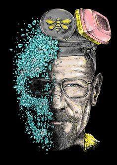 I am the danger by Alan Maia / Facebook / Flickr Breaking Bad Art, Breaking Bad Seasons, Bad Friends, Walter White, Base, Chemist, Smartphone, Graphics, Facebook