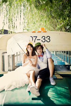 [Offcial Photo] Hyun Joong & Hwang Bo Never released We Got Married Wedding…