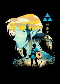The Legend of the Wild The Legend Of Zelda, Legend Of Zelda Breath, Legend Of Zelda Poster, Image Zelda, Link Zelda, Zelda Skyward, Skyward Sword, Link Art, Twilight Princess