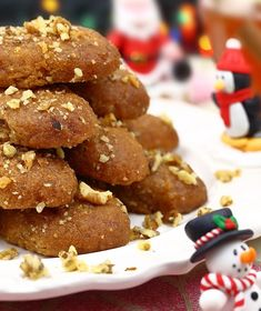 melomakarona me stebia Greek Sweets, Greek Desserts, No Cook Desserts, Greek Recipes, Christmas Desserts, Christmas Treats, Christmas Recipes, Greek Cookies, Sweet Tooth