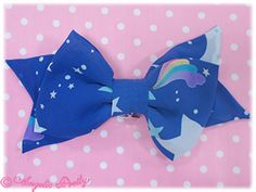 Dream Sky Ribbon Barrette in blue
