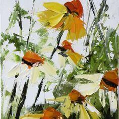 Reserve t. ....... les fantaisistes au jardin ..... : peinture figurative : peinture à l'huile au couteau sur toile de coton : dimensions