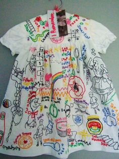Childhood memories - hand made child's dress covered with hand embroidery- I want to do a grown up version, covered in embroidery that reminds me of my sons! Embroidery Art, Embroidery Stitches, Embroidery Patterns, Embroidery Fashion, Textiles, Thread Art, Embroidered Clothes, Boro, Fabric Art