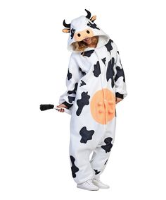 Look at this #zulilyfind! White Casey the Cow Costume - Adult by RG Costumes #zulilyfinds