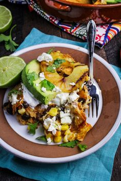 "Chipotle and Black Bean Chilaquiles with Grilled Pineapple from @Albertsons board ""What's for Dinner?"""