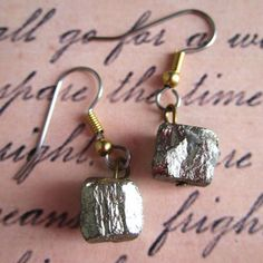 Pyrite Earrings now featured on Fab.