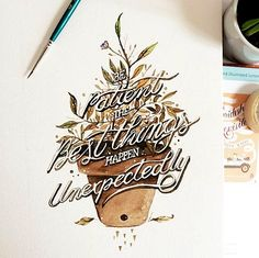 Between Painting and Typography – Watercolor Lettering by June Digan