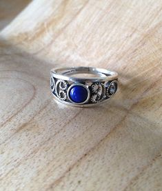 Lapis Lazuli Ring Sterling Silver Lapis Ring Gift by PABJewellery