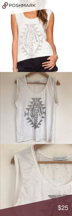 Daydreamer LA Tribal Feathers Holy T Shirt Tee M Excellent pre owned condition. No signs of wear. Intentional holes through out. Daydreamer LA Tops Tees - Short Sleeve