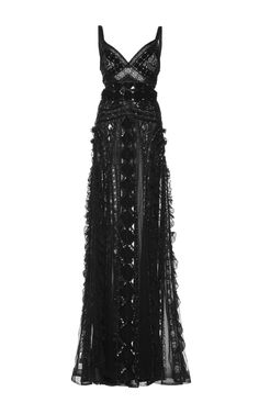 Embroidered Georgette Gown by Zuhair Murad