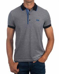 Polos HUGO BOSS ® Gris ✶ Paule 4 | ENVIO GRATIS Polo Vest, Polo T Shirts, Polo Shirt Design, Le Polo, Ralph Lauren Style, Hugo Boss, Calvin Klein Jeans, Shirt Style, Shirt Designs