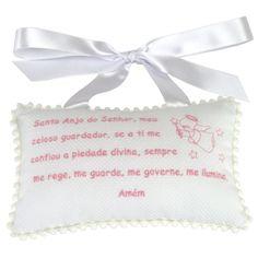 Almofada Oração Anjo da Guarda Rosa - Xique Xique Brasil