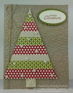 Stampin' Up! Washi Tape Christmas Tree card