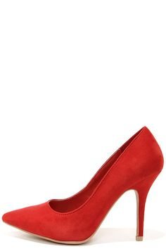 e68619e30 WILD DIVA LOUNGE LOVISA 01 RED SUEDE POINTED PUMPS  23