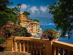 Balcony in Portofino Italy