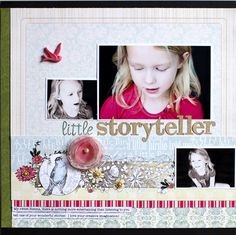 Layout using Webster's Pages Everyday Poetry collection by DT member Jamie Harder.