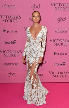 Victoria's Secret model, Candice Swanepoel on the red carpet at the VS Fashion Show After Party red carpet - Dec. 2, 2014